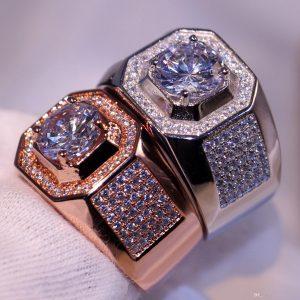 Luxus Schmuck Choucong Marke Desgin 10Kt Weiß Rose Gold Gefüllt Pflastern  Einstellung Party Cz Diamant Topaz Hochzeit Band Ring Geschenk Größe 8-13