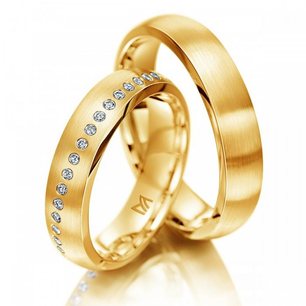 Meister Ehering Diagonal Gelb | Juwelier Binder Ravensburg