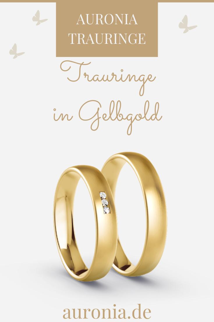 Pin Von Auronia Trauringe Auf Trauringe - Gelbgold