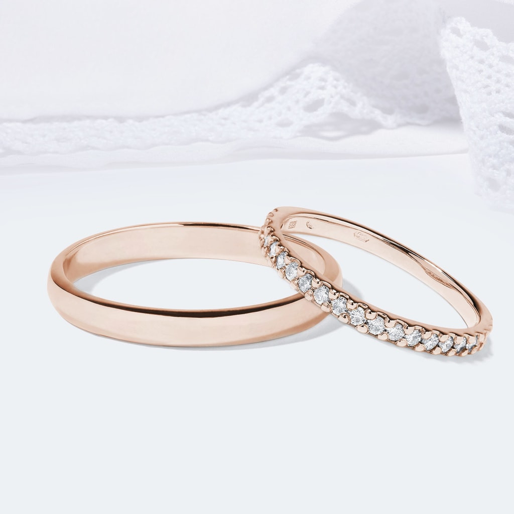 Roségold Eheringe Mit Diamanten | Klenota