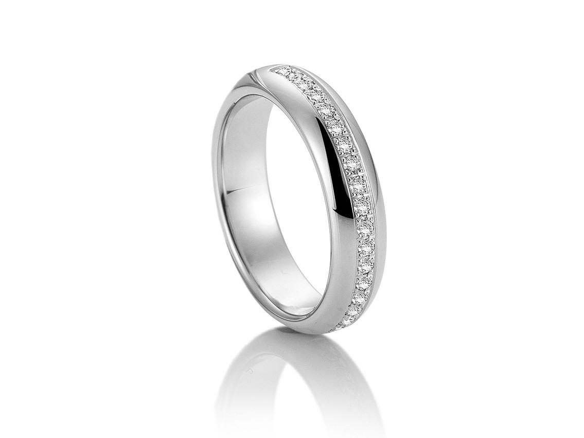 Saint Maurice Trauring Ehering Verlobungsring Freundschaftsring 14Kt  Weißgold Diamanten Uvp 1.655,- € Neu