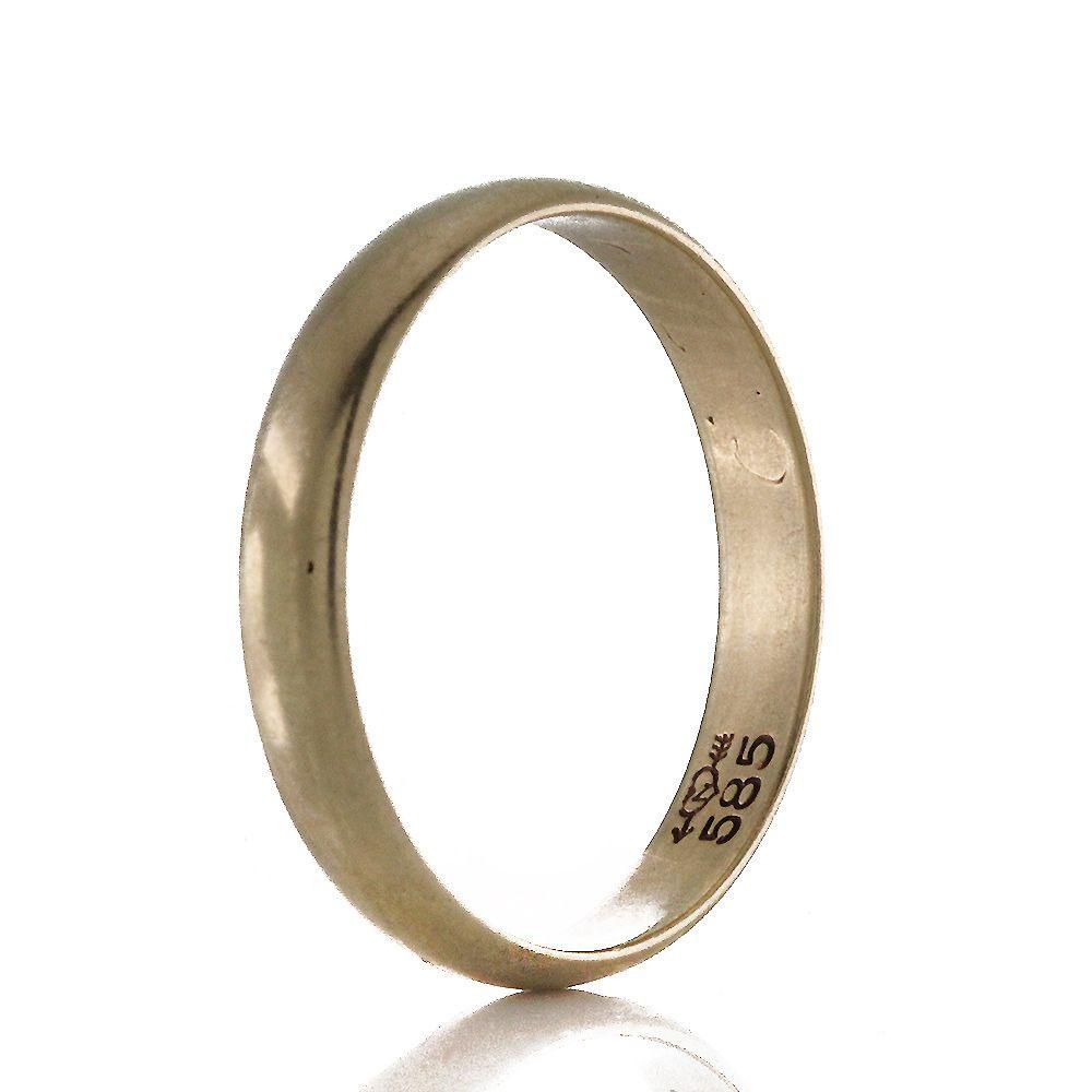Schlichter Vintage Ehering Band Ring Gold 585Er, Rg 54 X