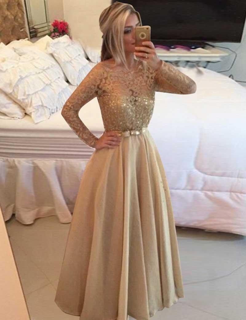 Schön Abendkleid Champagner Boutique - Abendkleid