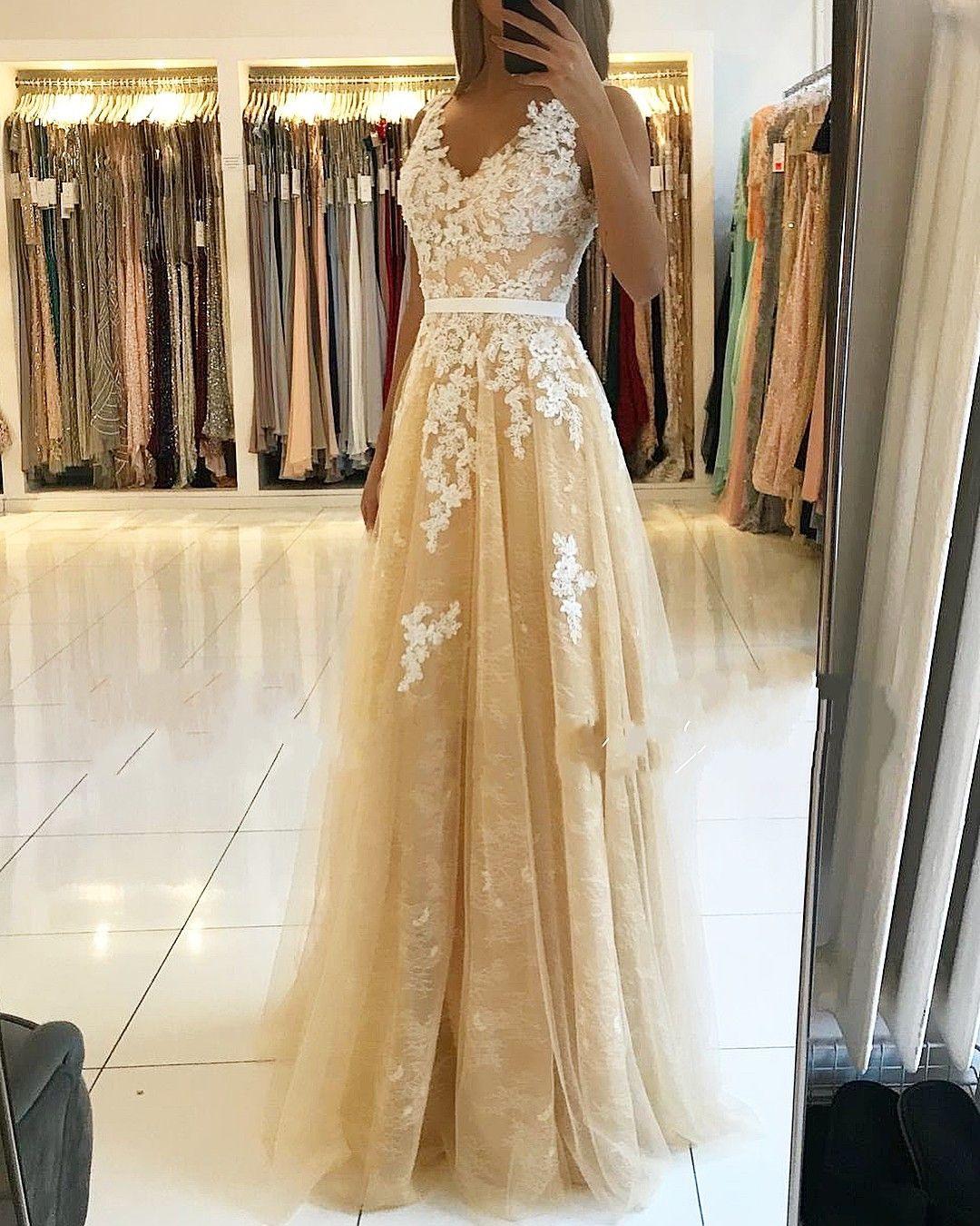 Schön Abendkleid Champagner Lang Galerie - Abendkleid