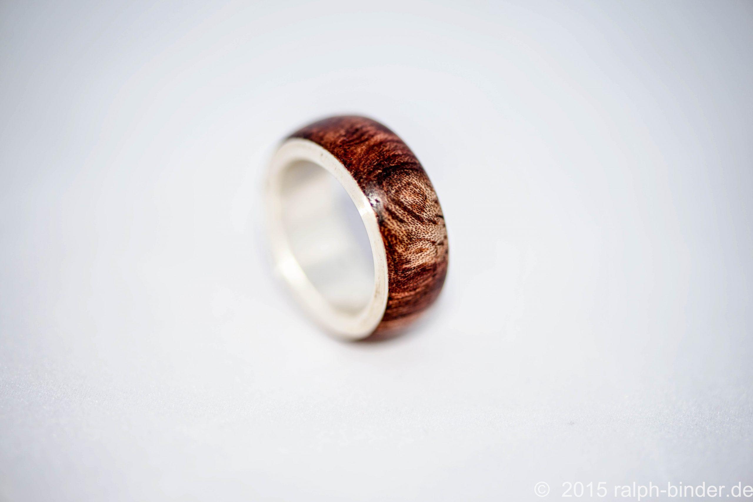 Schönen Glanz Im Angebot Pretty Nice Ring Holz Silber - Haus