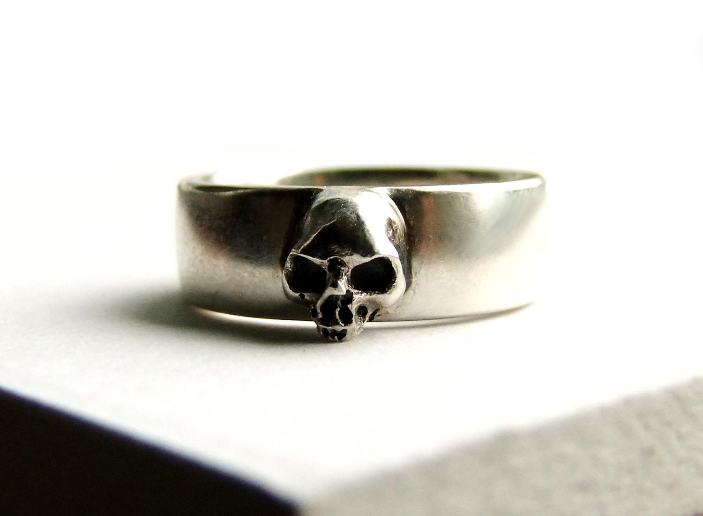 Skull Wedding Ring Grooms Skull Ring Goth Groom Ring