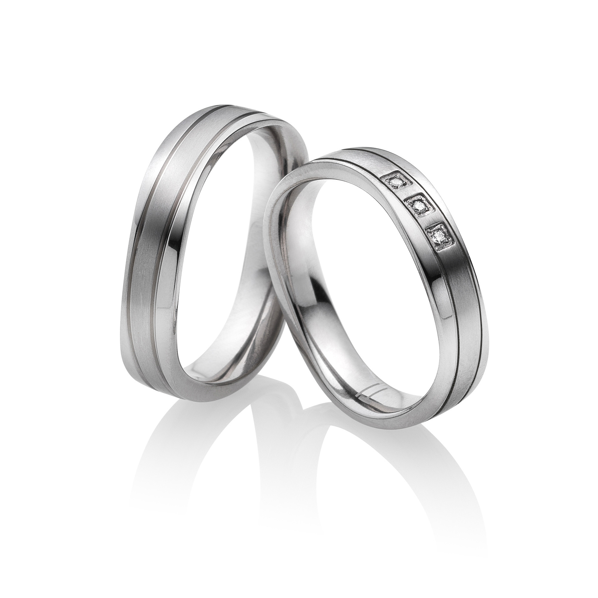 Titan Eheringe Partnerringe Adria | Miomi - Tungsten Carbide Jewelry