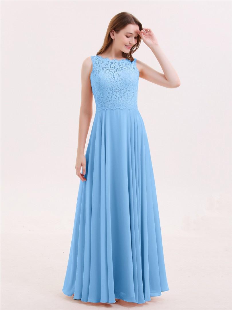 Abend Kreativ Kleid Blau Lang Spezialgebiet17 Schön Kleid Blau Lang Bester Preis