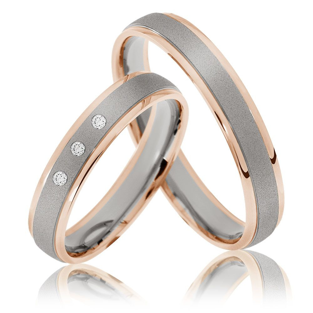 Trauringe Oldenburg - 333Er Rot-/weissgold | Wedding Rings