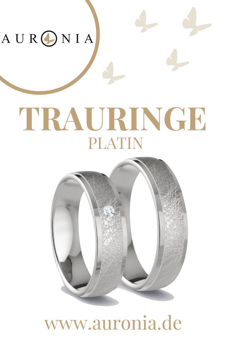 Trauringe Platin Mit Stein, Eismatt, Breit. Passende