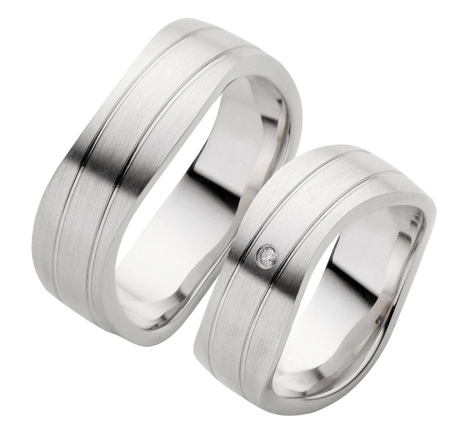 Trauringe Silber Mit Platinbeschichtung