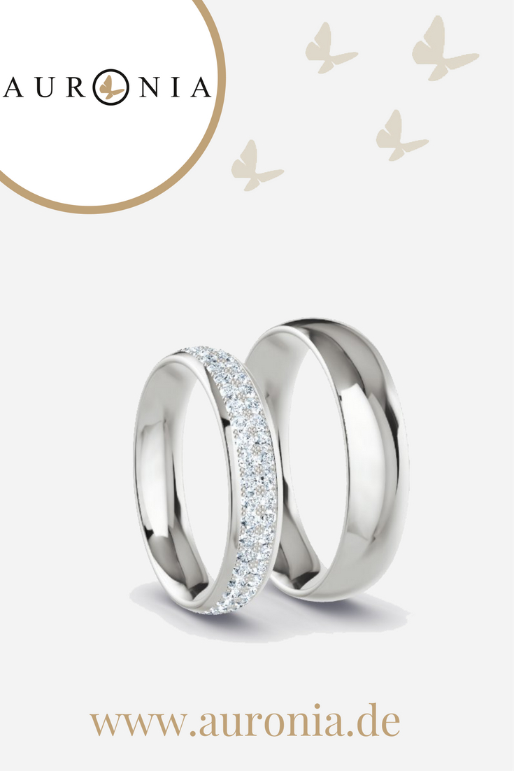 Trauringe Silber Mit Stein/diamant, Schlicht, Breit, Poliert