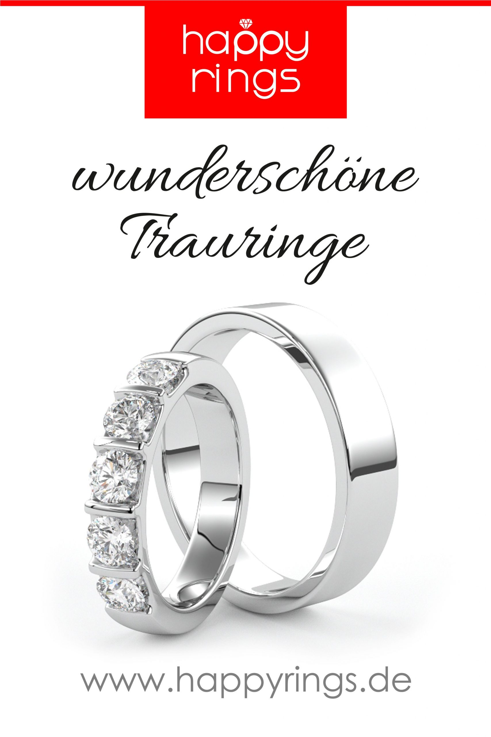Trauringe Weissgold Mit Diamanten. Wunderschöne Eheringe Für