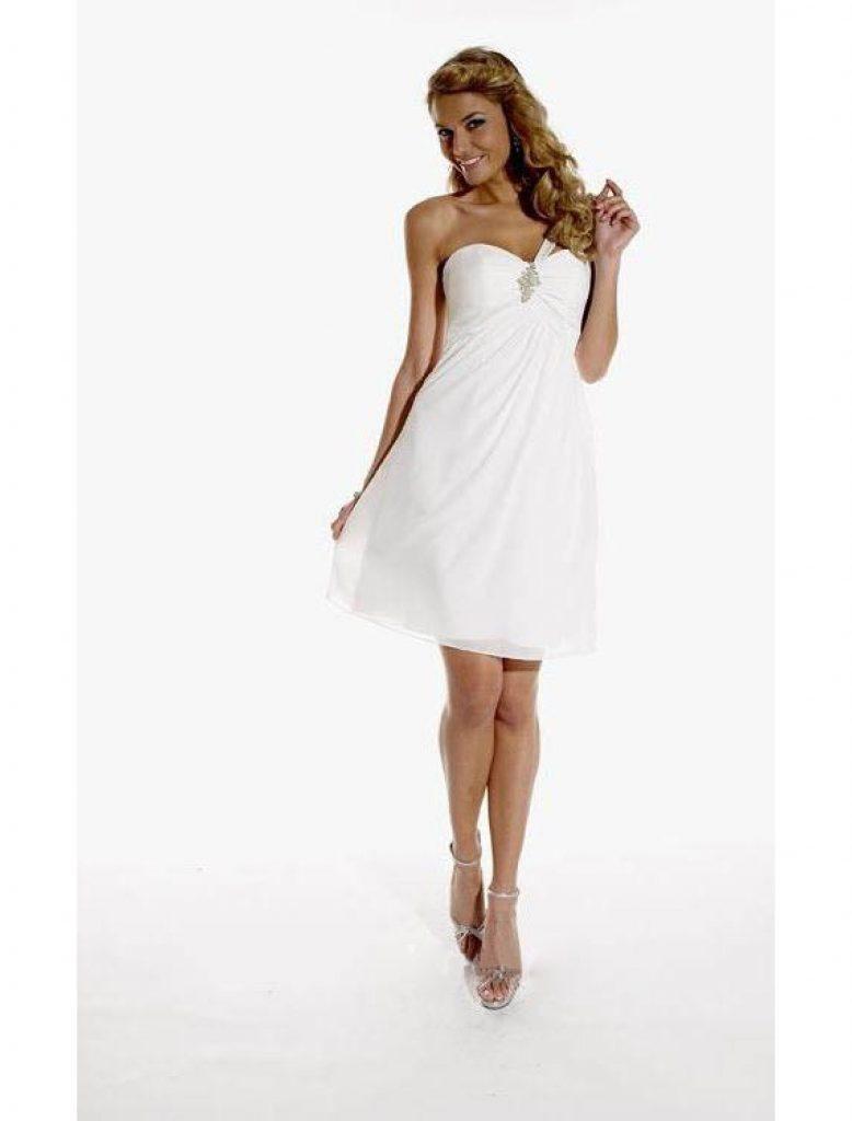 10 Luxurius Kurze Kleider Weiß Ärmel - Abendkleid