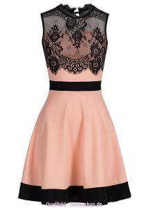 Abend Elegant Rosa Schwarzes Kleid für 201917 Fantastisch Rosa Schwarzes Kleid Ärmel