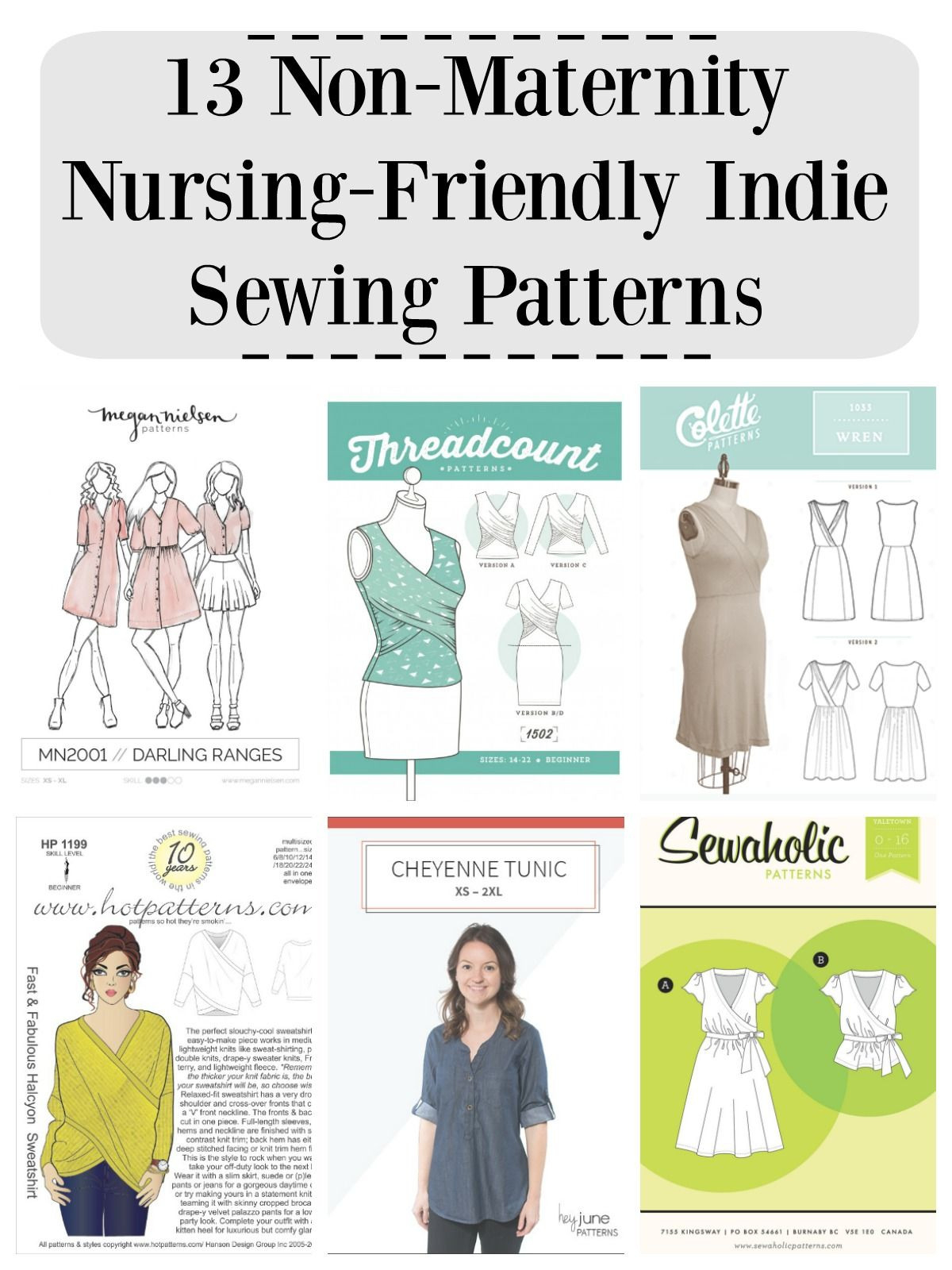 13 Non-Maternity Nursing-Friendly Indie Sewing Patterns