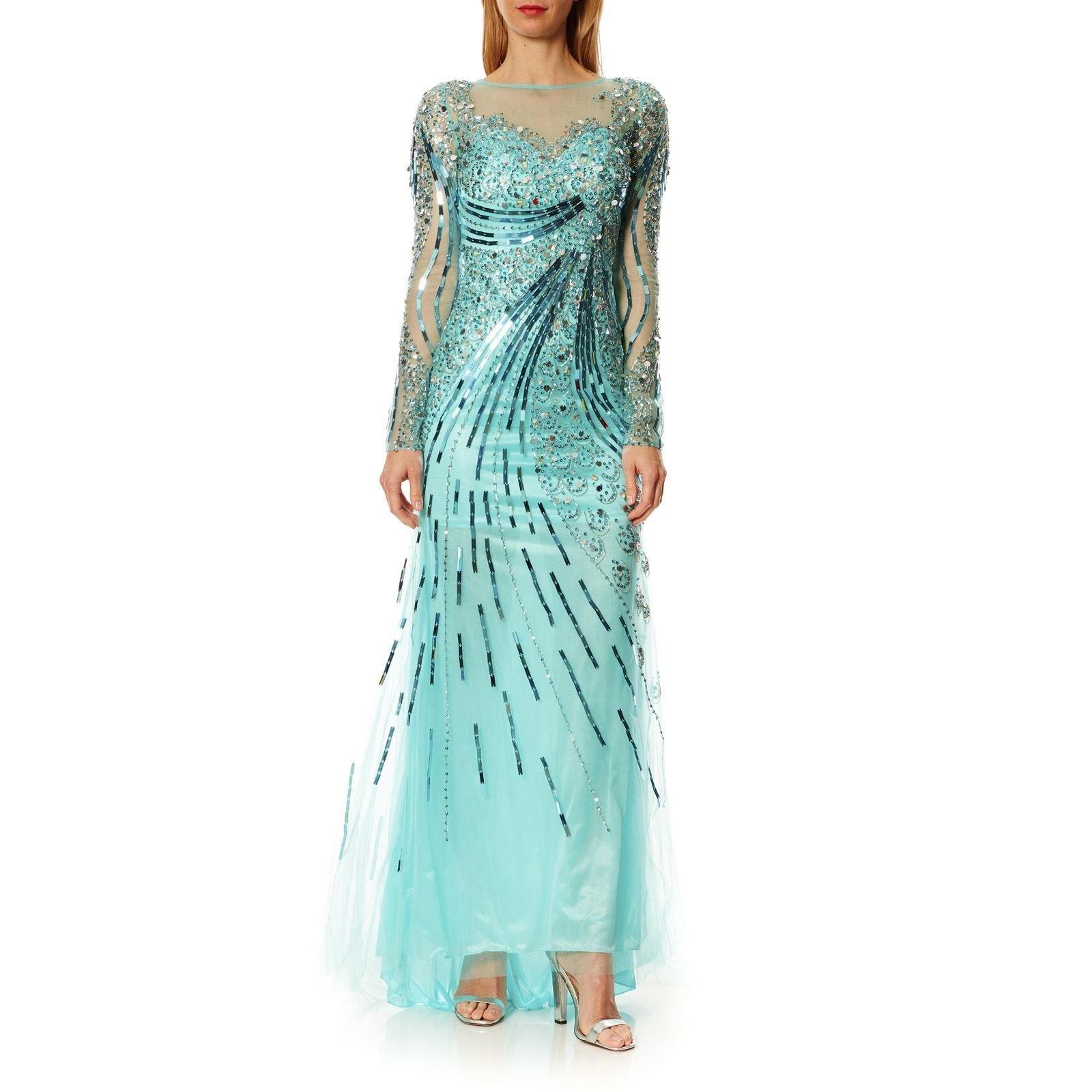 15 Luxus Festliche Kleider Türkis Bester Preis - Abendkleid