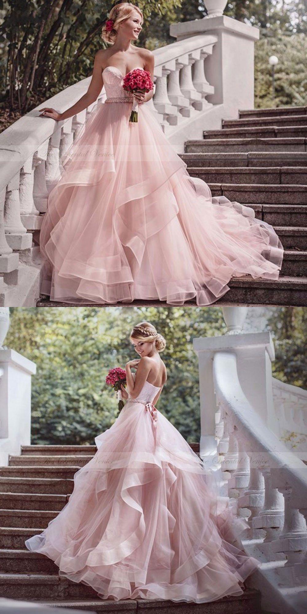 15 Schöne Rosa Brautkleider | Brautkleid, Brautkleid Rosa