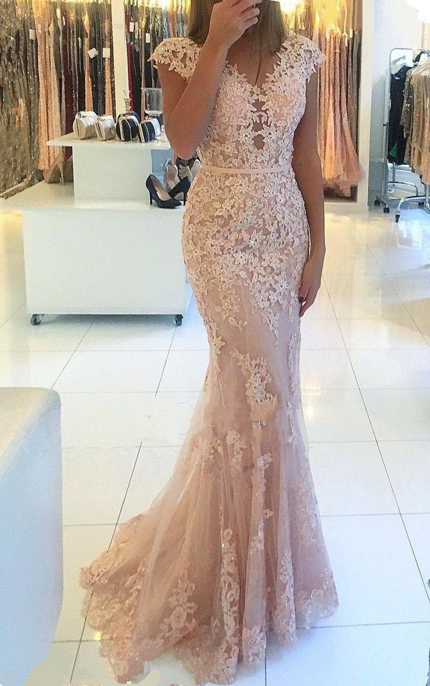 Designer Elegant Abend Kleid Lang Rosa VertriebAbend Top Abend Kleid Lang Rosa Stylish