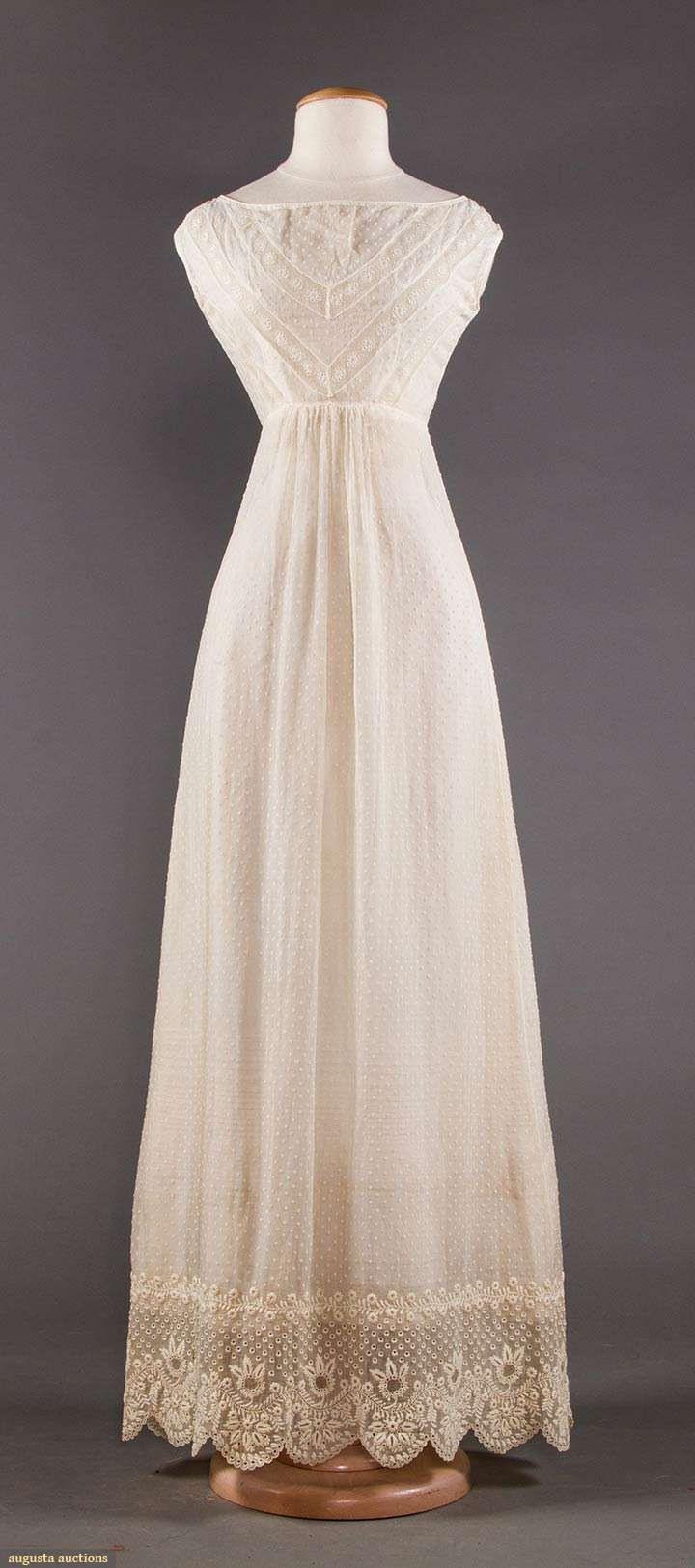 1820Er, Hochzeitskleid Aus Mull, Usa | Vintage Kleider