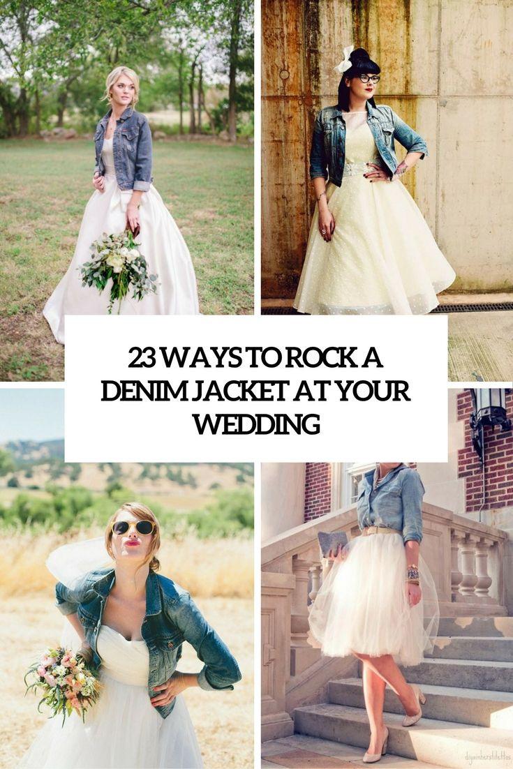 23 Ways To Rock A Denim Jacket At Your Wedding