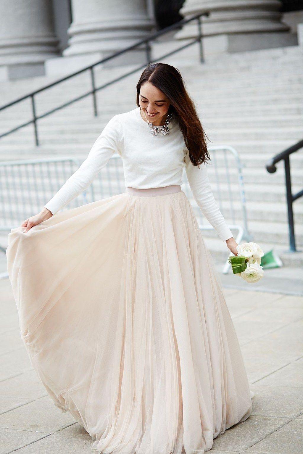 Hochzeitskleid Standesamt Winter - Abendkleid
