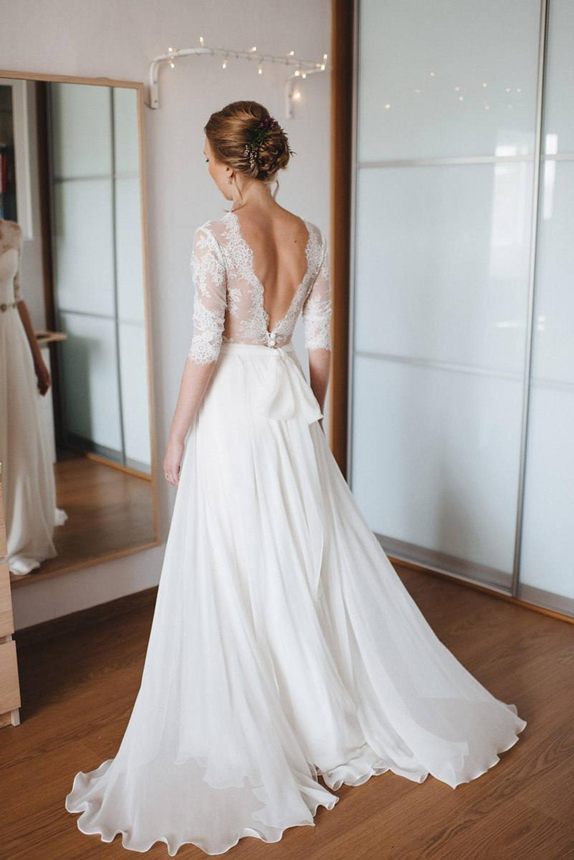 A-Linie Kleid, A-Linie Stil, Schlichtes Brautkleid