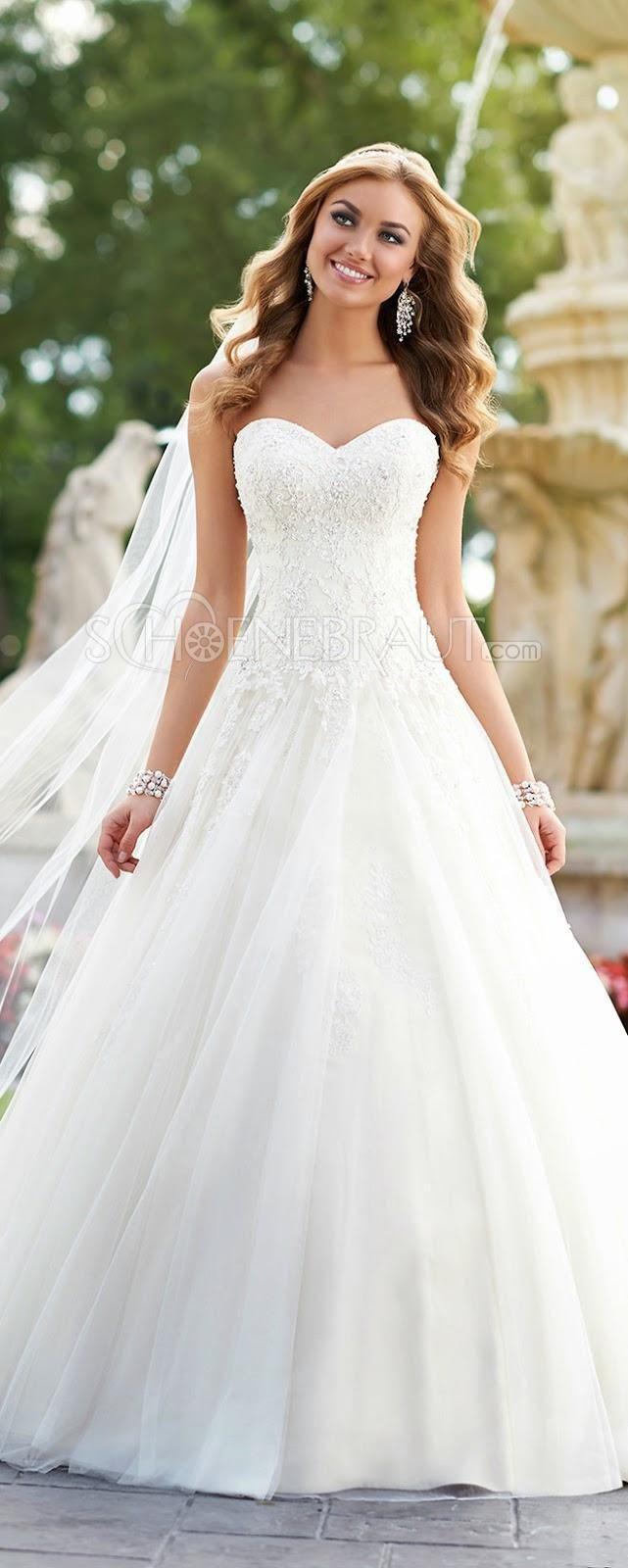 A Linie Spitze Brautkleid Mit Straß Lace Sweetheart