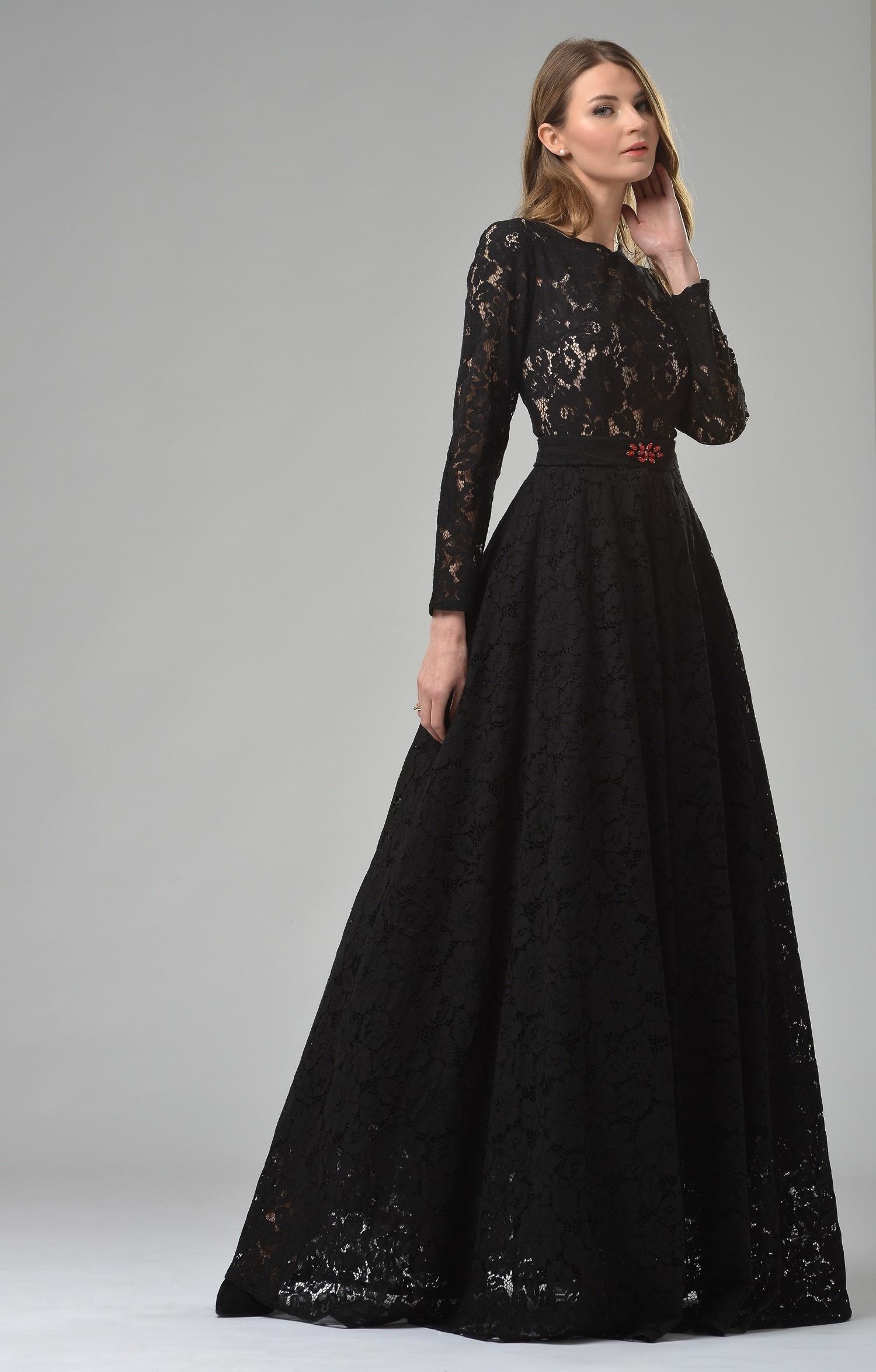 Formal Wunderbar Schwarzes Abendkleid Lang für 2019 Schön Schwarzes Abendkleid Lang Ärmel