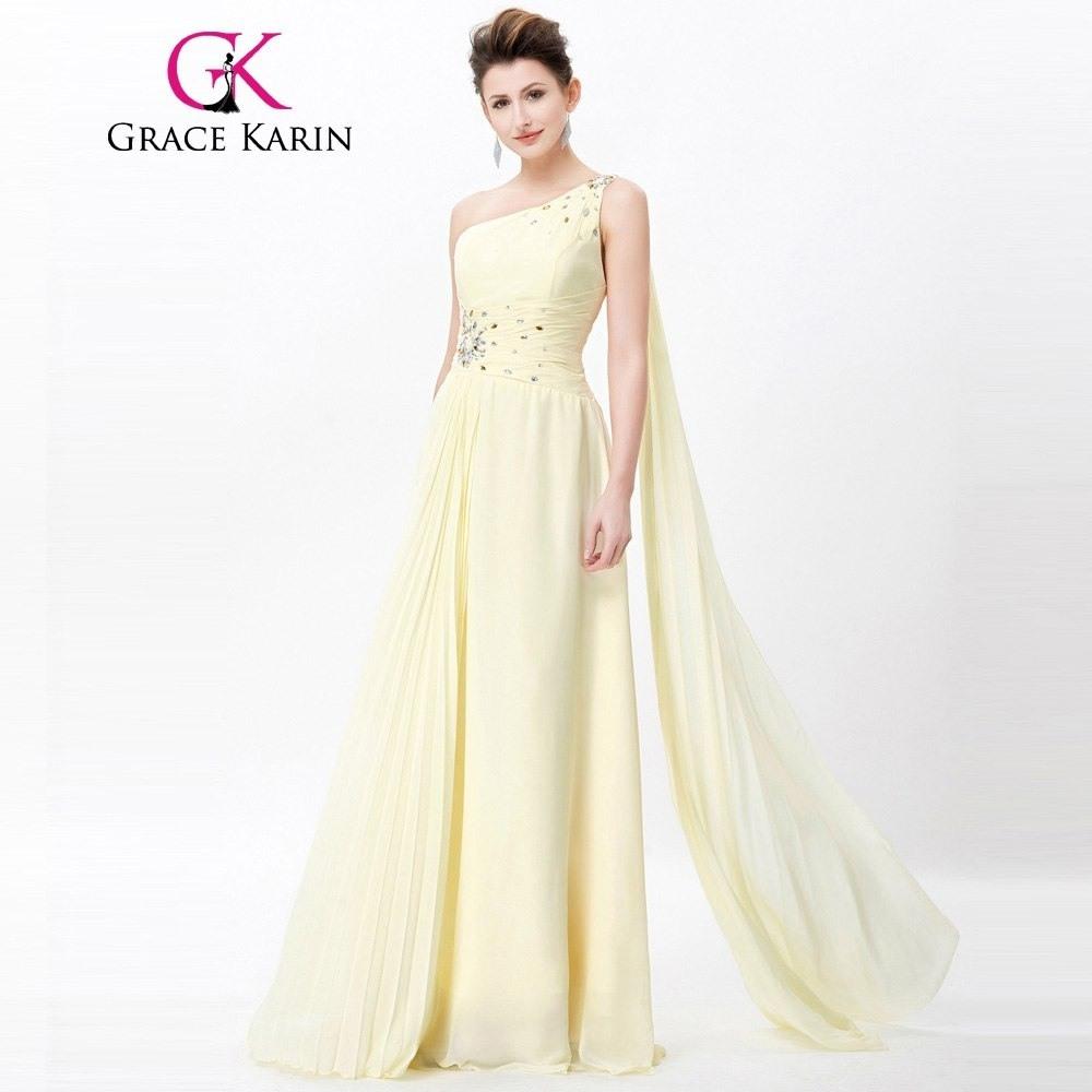 Abend Kreativ Kleid Gelb Hochzeit Design - Abendkleid