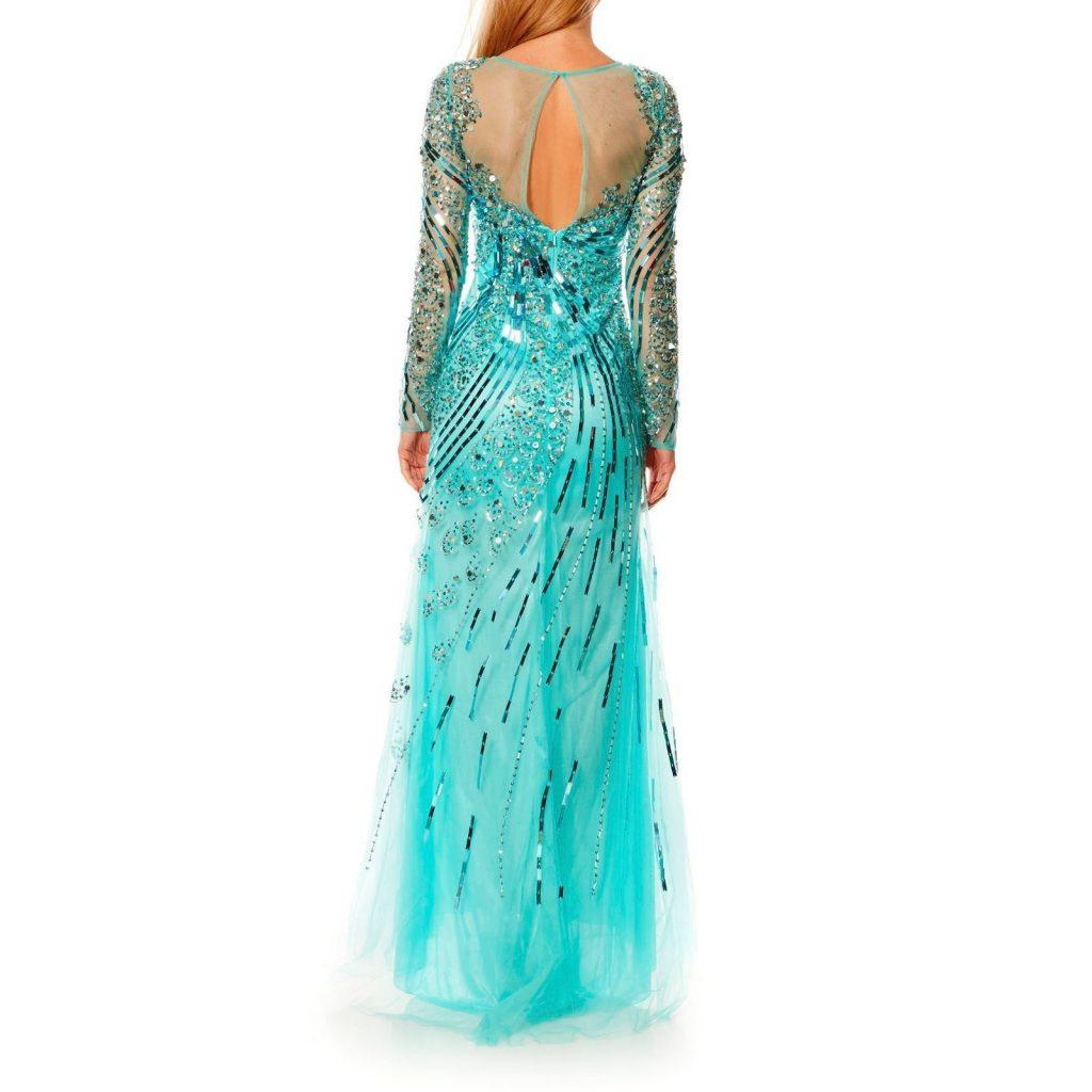Abend Leicht Kleid Türkis Stylish - Abendkleid