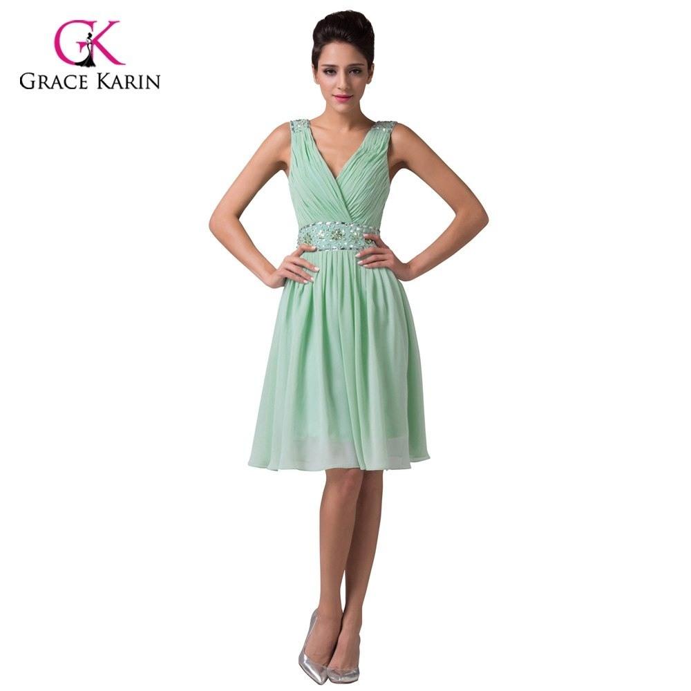Abend Schön Kleid Für Hochzeit Grün Stylish - Abendkleid