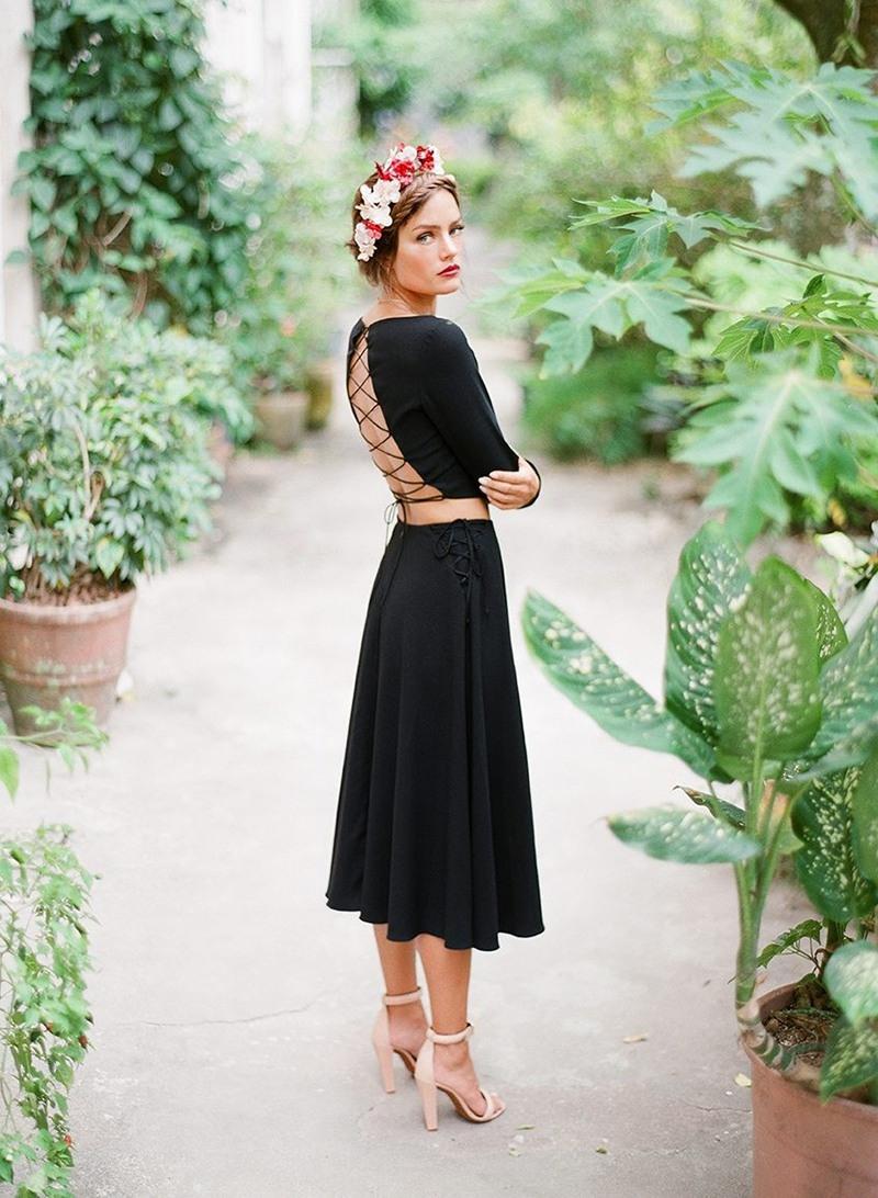 Abend Schön Schwarzes Kleid Zur Hochzeit Design - Abendkleid