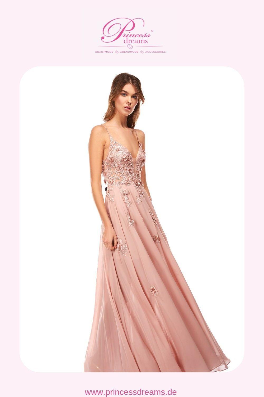 Abendkleid Lang Rosa Von Corizzi | Ein Wunderschönes
