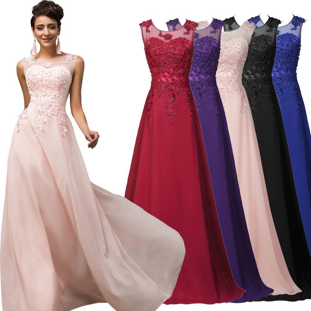 Abendkleider Ballkleider Partykleid Brautjungfernkleid Lang