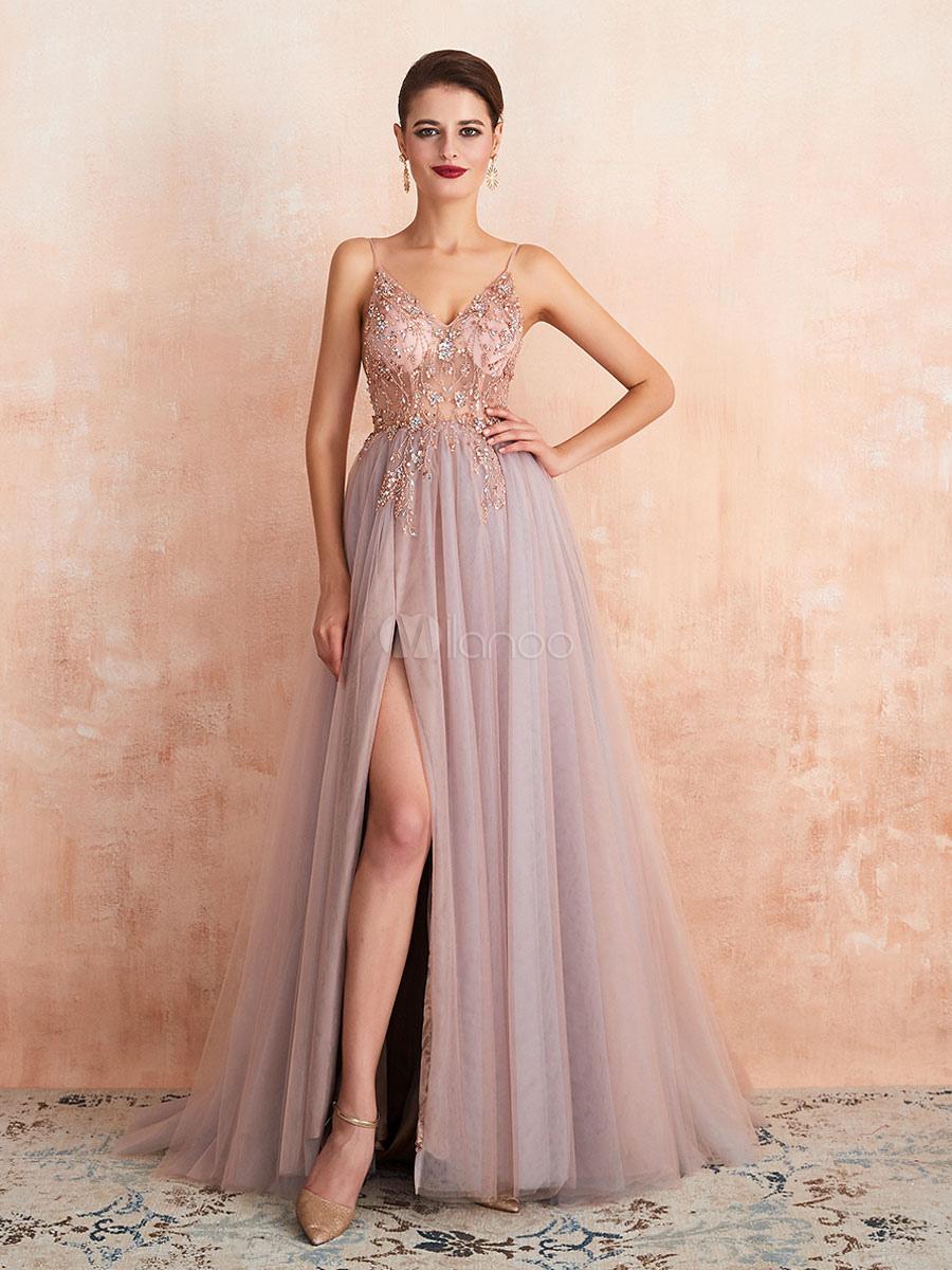 Abendkleider Mit Trägern Hochzeit Ärmellos Abendkleider Rosa