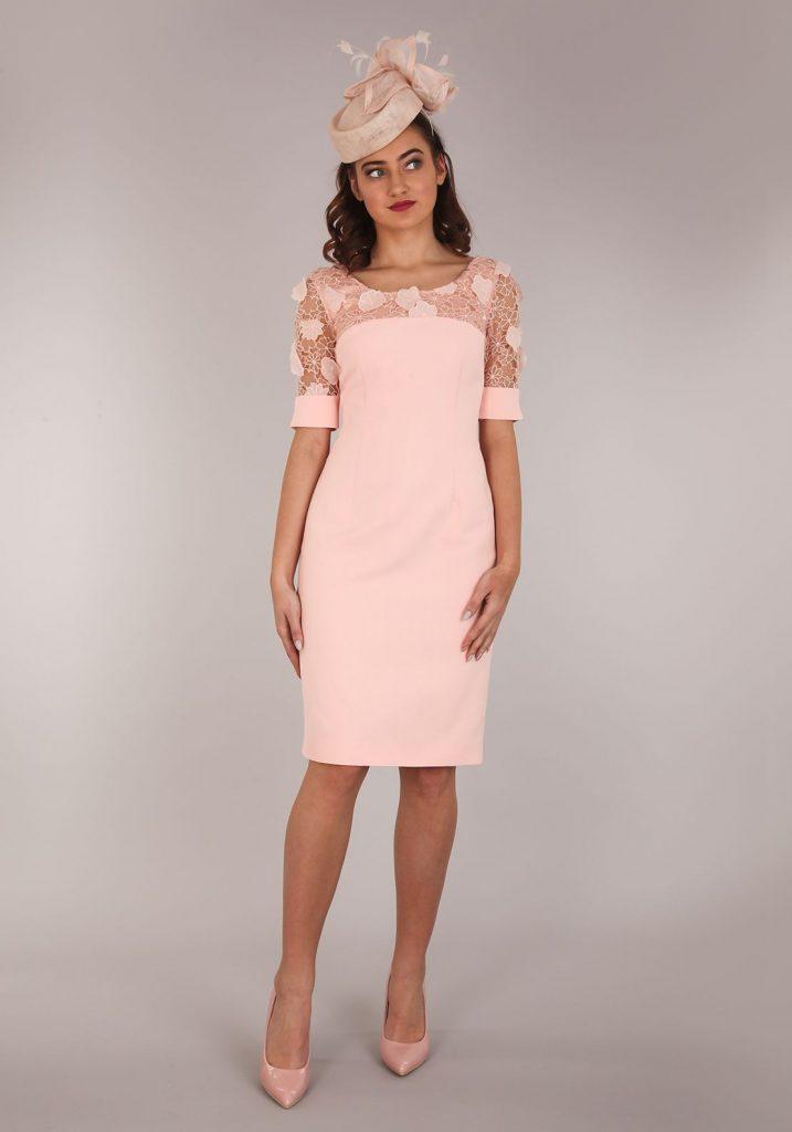 Aideen Bodkin Guava Pencil Dress, Apricot Pink (Mit ...