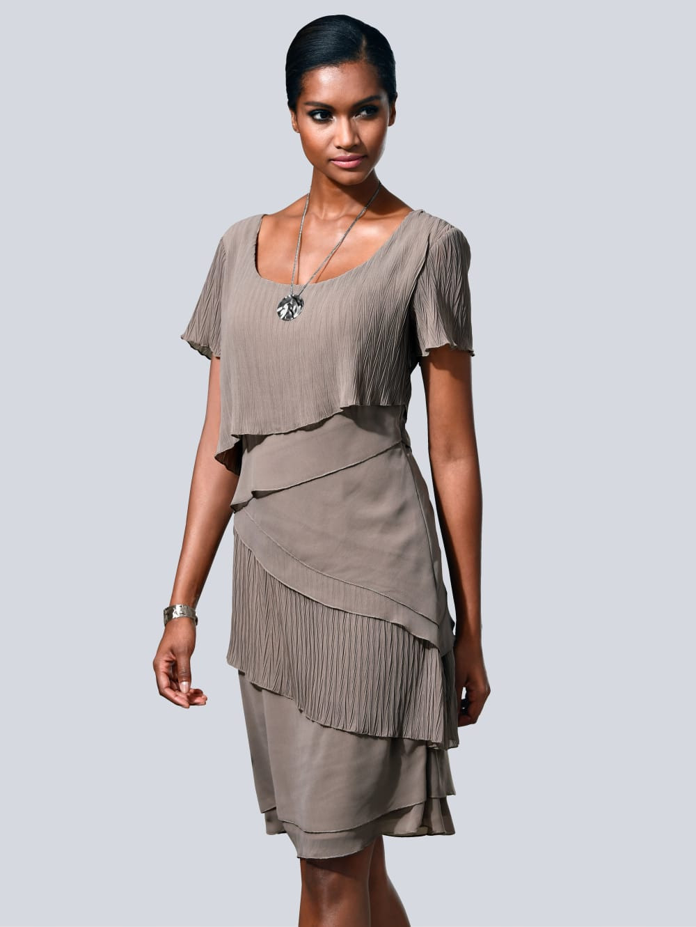 Alba Moda Kleid In Modischem Lagenlook | Alba Moda