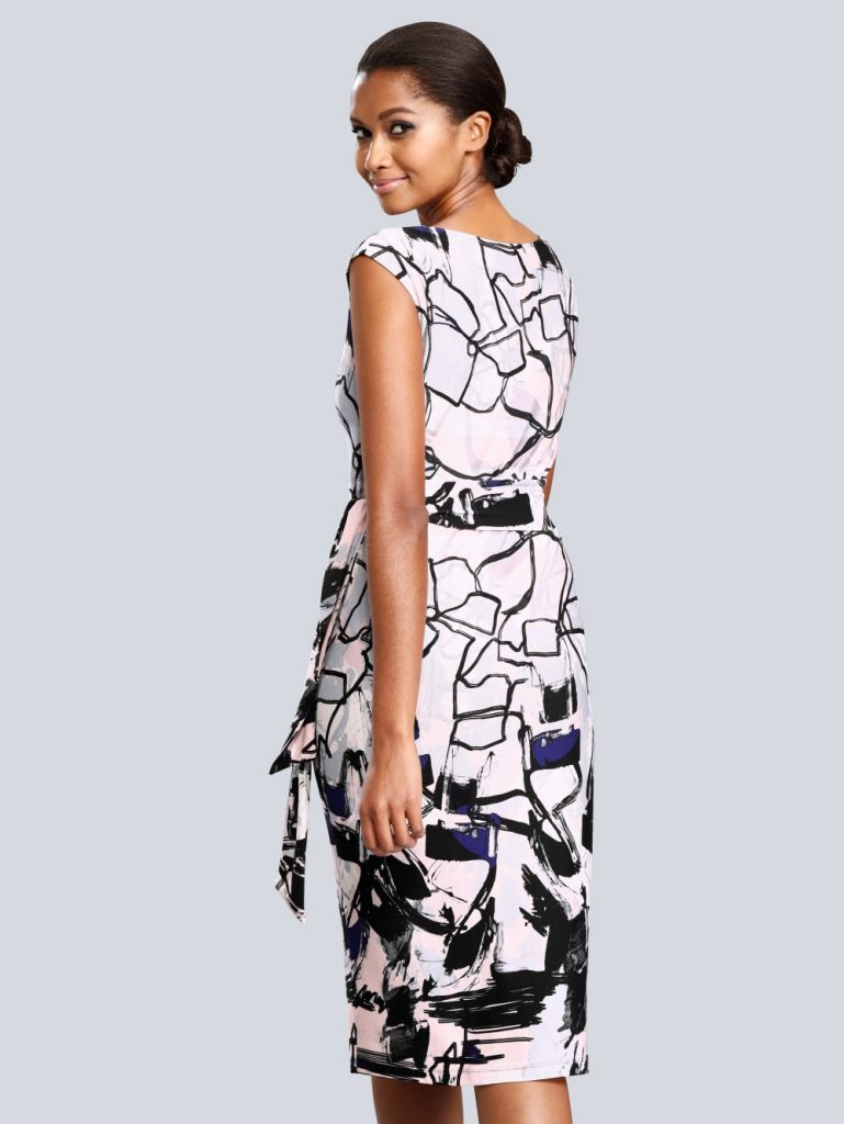 Alba Moda Kleid Mit Allover Grafik-Dessin  Alba Moda - Abendkleid