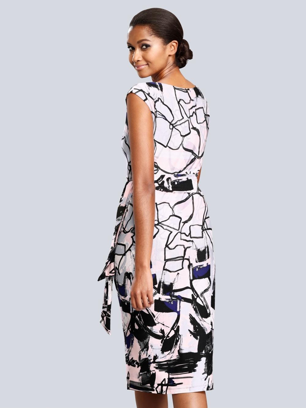 Alba Moda Kleid Mit Allover Grafik-Dessin | Alba Moda