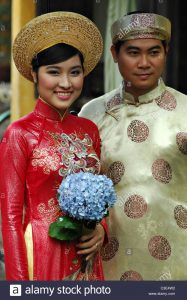 Ao Dai Vietnam Wedding Stockfotos & Ao Dai Vietnam Wedding