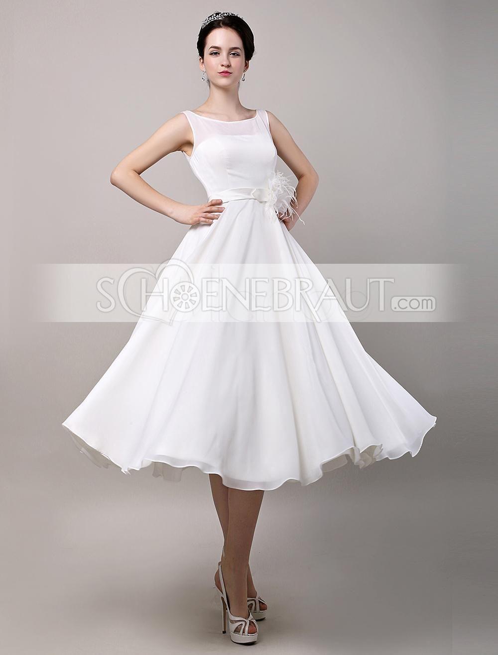 Audrey Hepburn Vintage Hochzeitskleid Tüll Kurz Mit Spitze