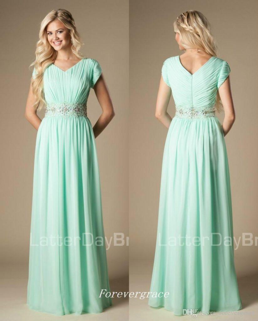 Ausgezeichnet Mint Kleid Hochzeit Bester Preis ...