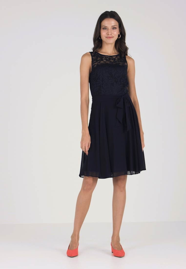 Ava Stretch - Cocktailkleid/festliches Kleid - Navy