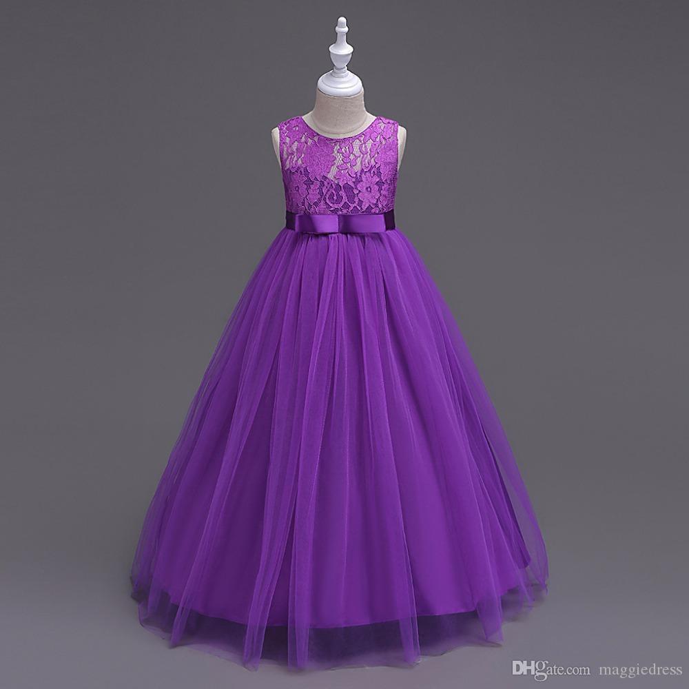 Baby Mädchen Partykleid 2017 Hochzeit Sleeveless Teenager Mädchen Kleider  Kinder Kleidung Kinder Kleid Kostenloser Versand