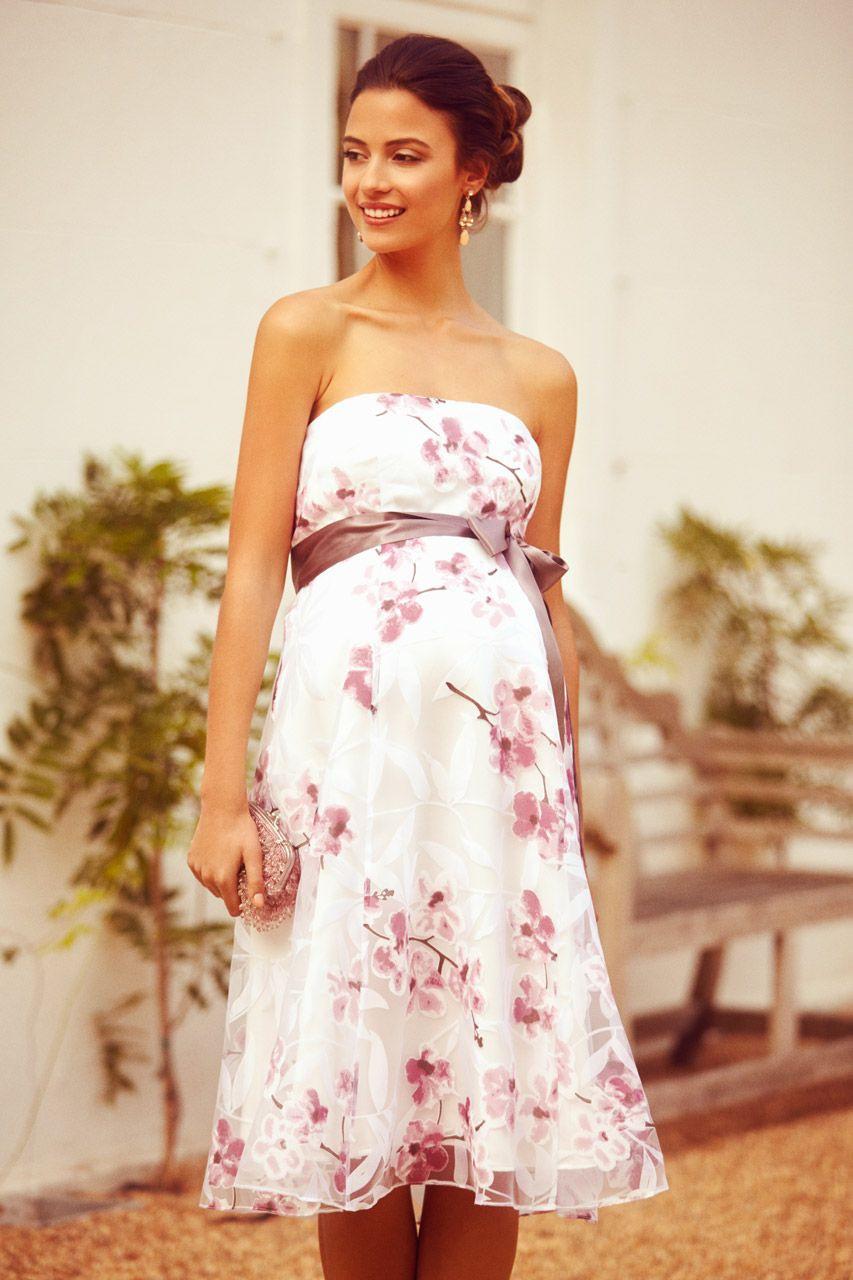 Bandeau Umstandskleid Cherry Blossom In 2020 | Umstandskleid