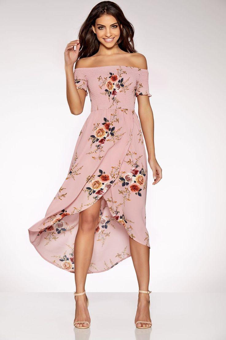 Bardot Wickelkleid Mit Blumenmuster - Quiz Clothing #bardot