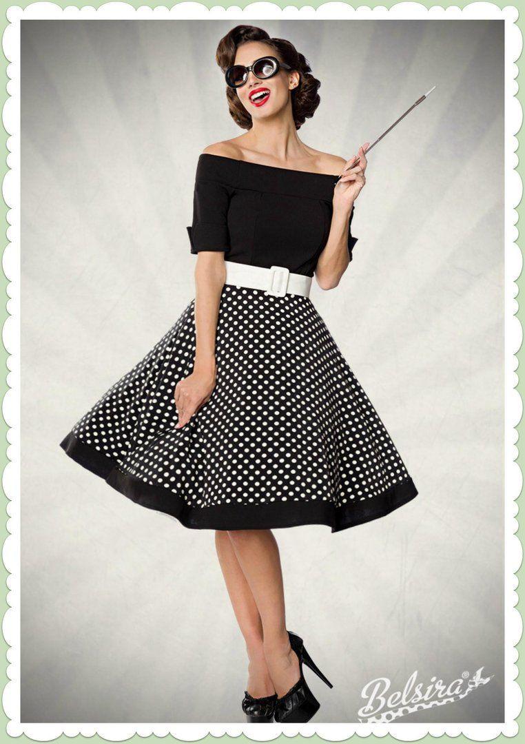 Belsira 50Er Jahre Rockabilly Petticoat Kleid - Polka Dots