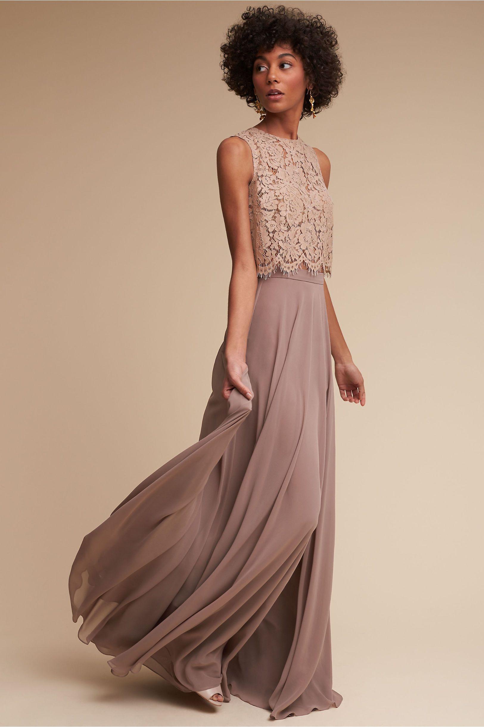 Bhldn Cleo Top & Hampton Skirt In Bridal Party | Bhldn