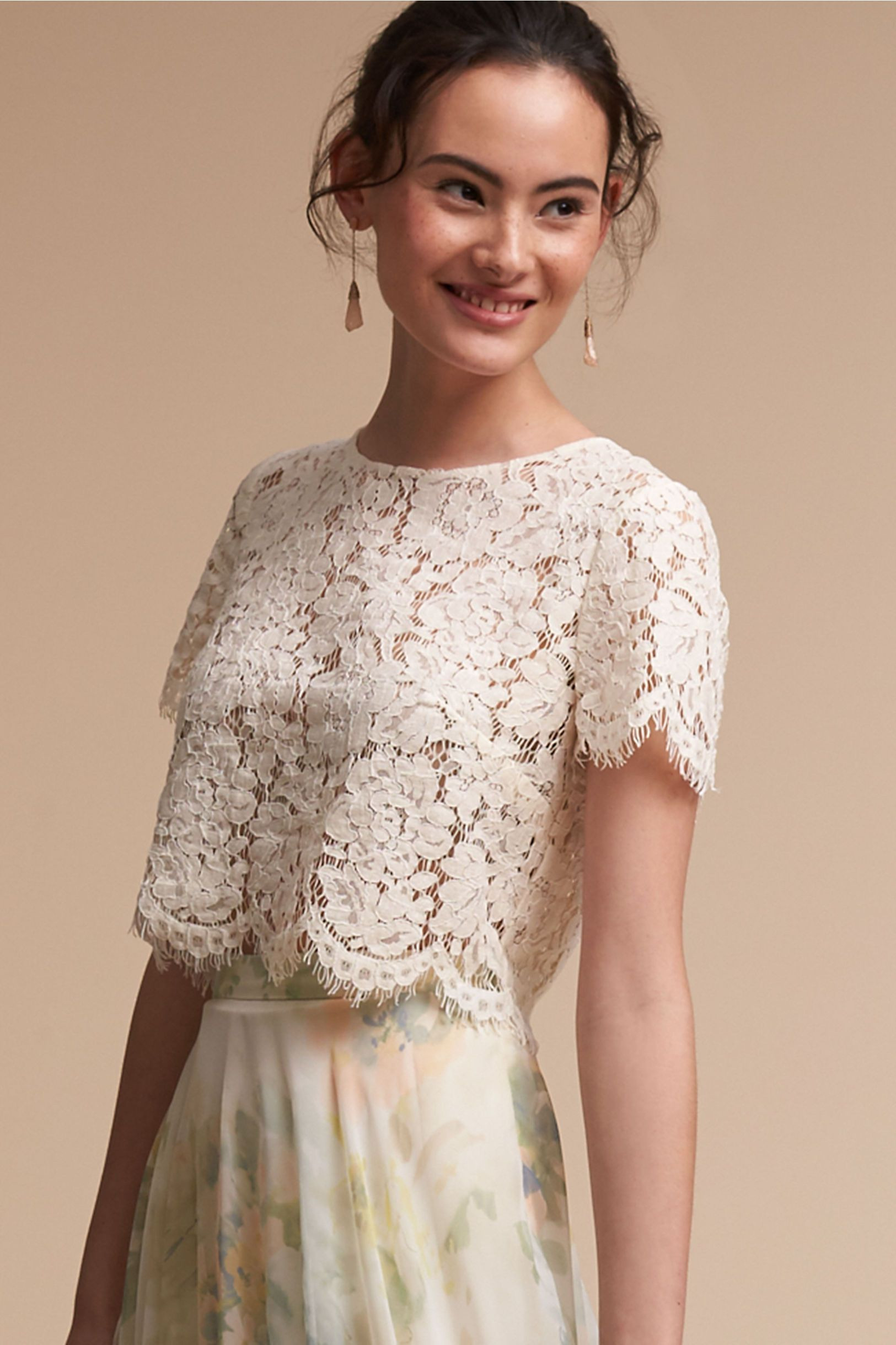 Bhldn Ivory Kenzie Top In Bridal Party | Bhldn